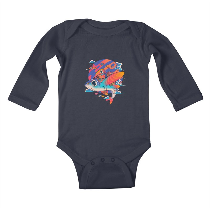 Riders of the abyss Kids Baby Longsleeve Bodysuit by MadKobra