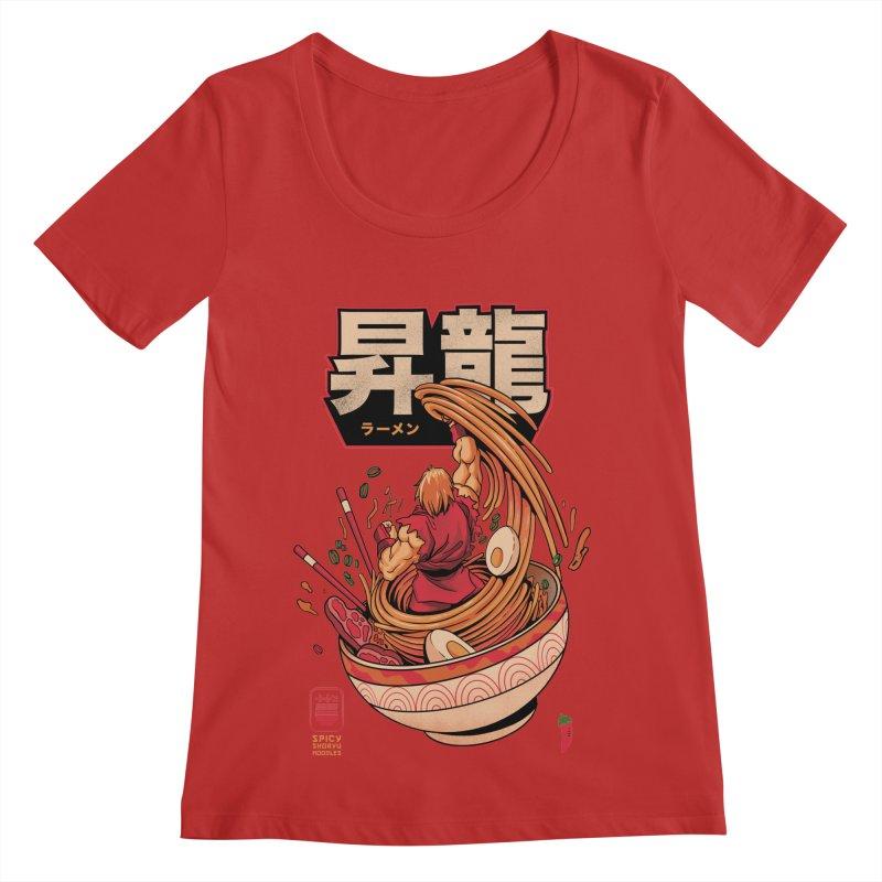 Spicy Shoryu Noodles Women's Regular Scoop Neck by MadKobra
