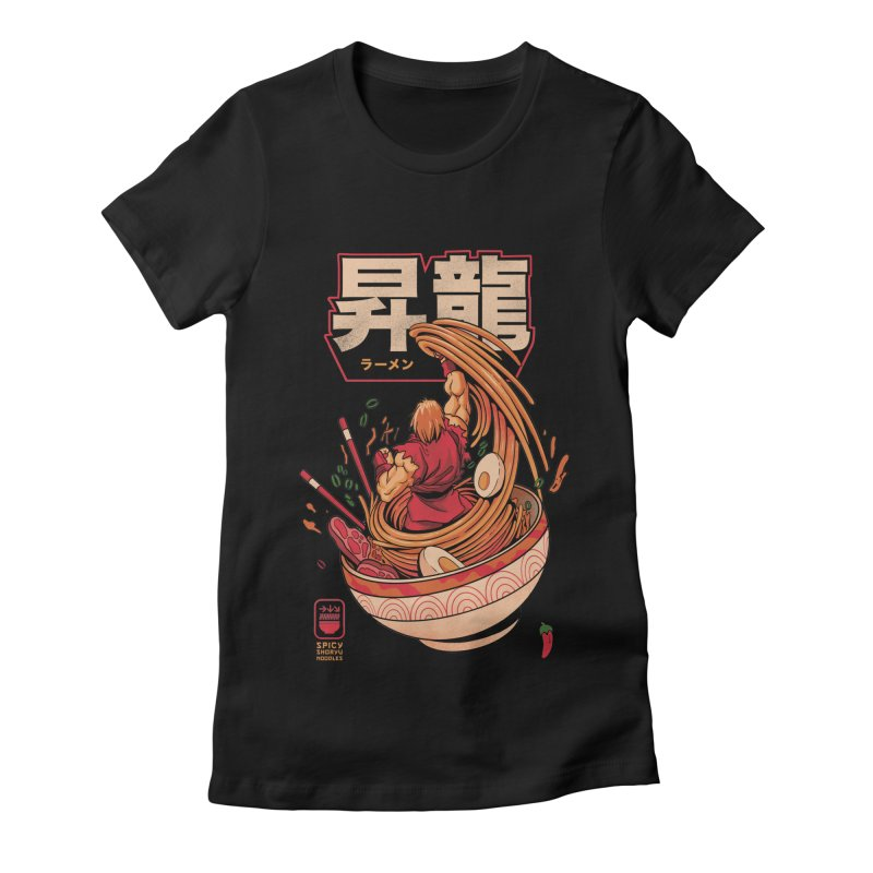 Spicy Shoryu Noodles Women's Fitted T-Shirt by MadKobra