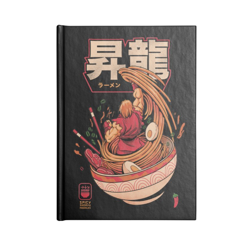 Spicy Shoryu Noodles Accessories Lined Journal Notebook by MadKobra