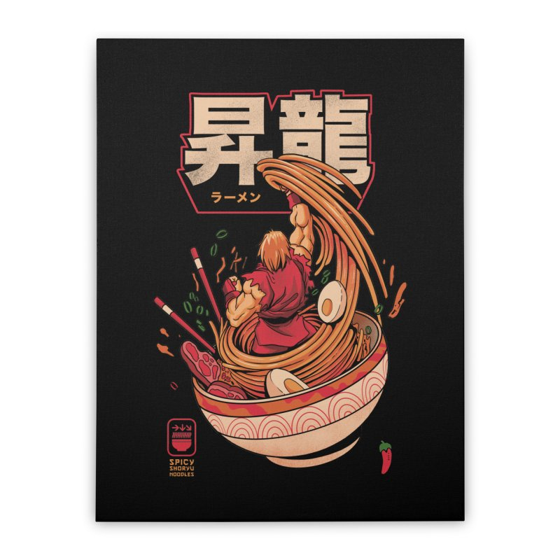 Spicy Shoryu Noodles Home Stretched Canvas by MadKobra
