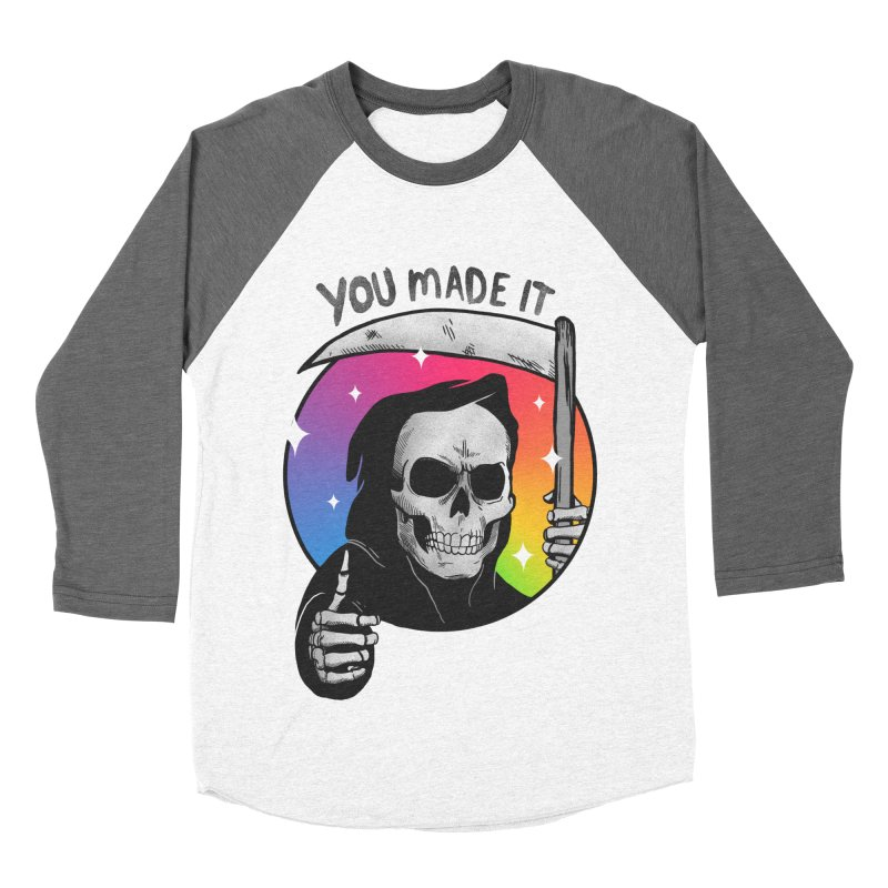 yay you made it! Men's Baseball Triblend Longsleeve T-Shirt by MadKobra