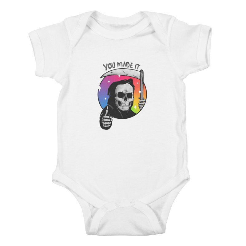 yay you made it! Kids Baby Bodysuit by MadKobra