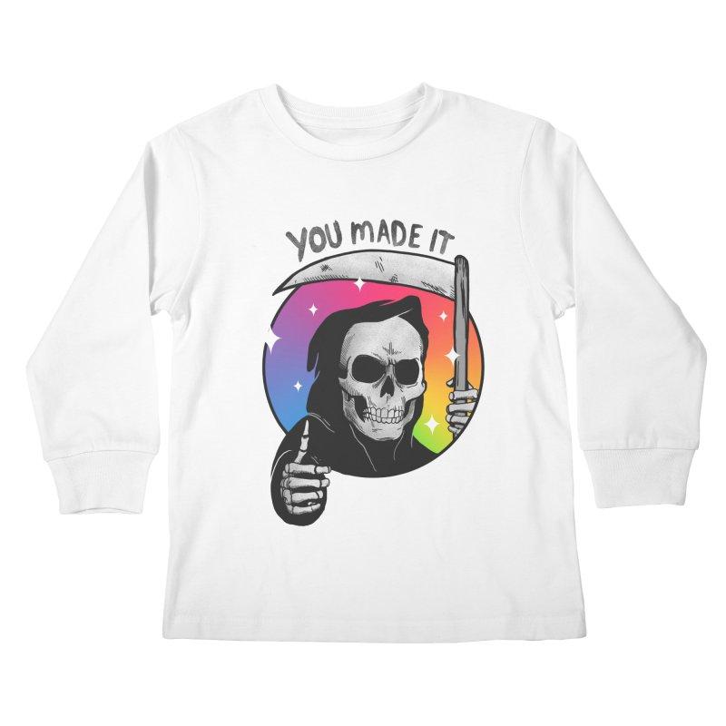 yay you made it! Kids Longsleeve T-Shirt by MadKobra