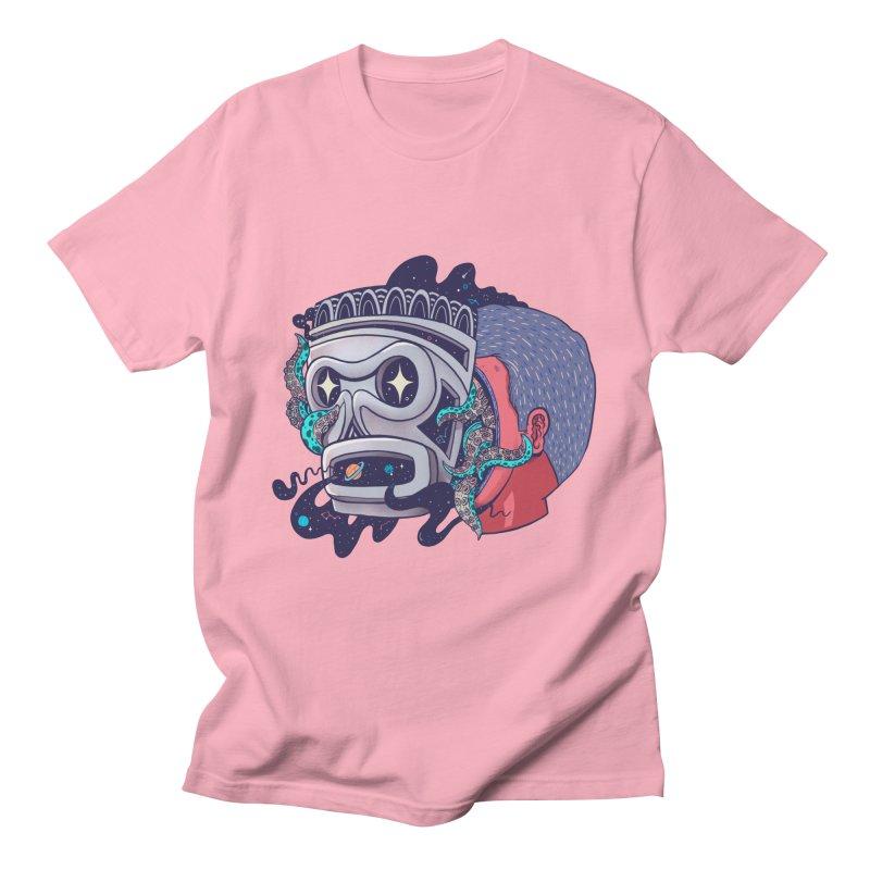 Cosmic taino mask Men's T-Shirt by MadKobra