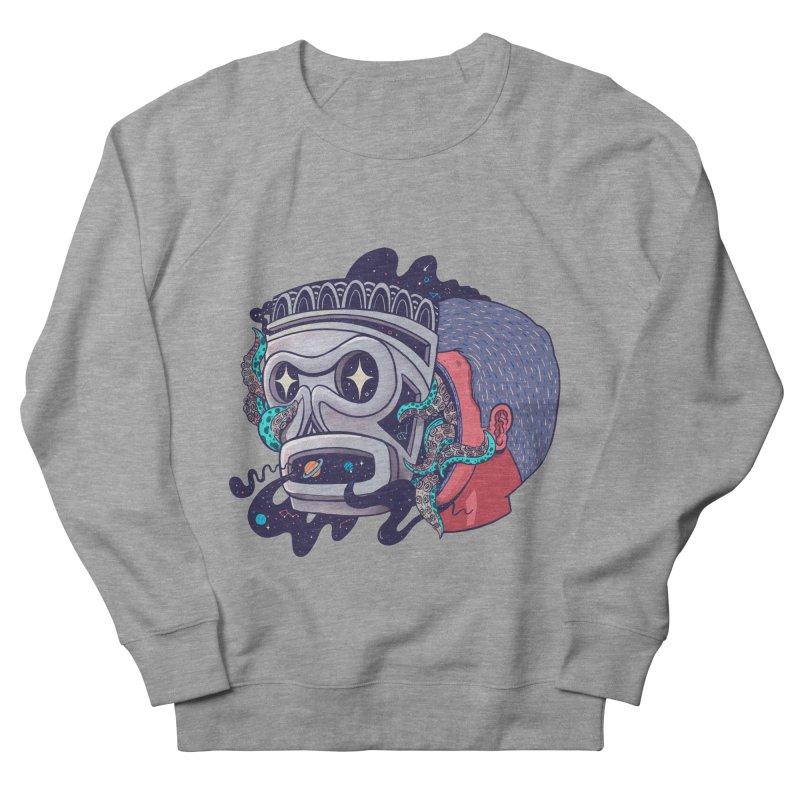 Cosmic taino mask Men's French Terry Sweatshirt by MadKobra