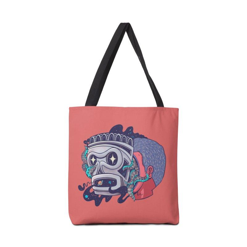 Cosmic taino mask Accessories Bag by MadKobra