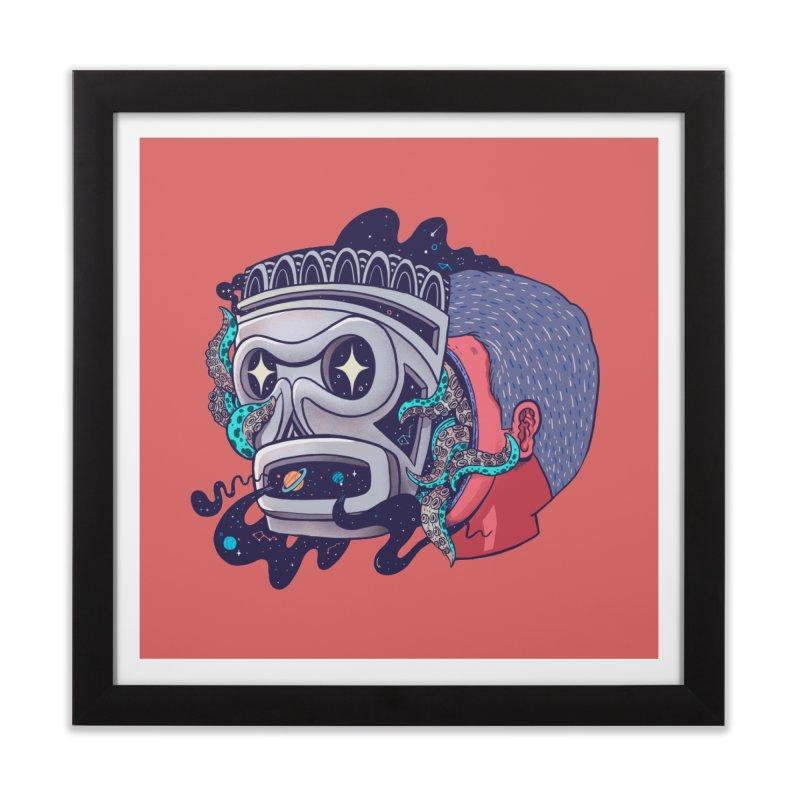 Cosmic taino mask Home Framed Fine Art Print by MadKobra