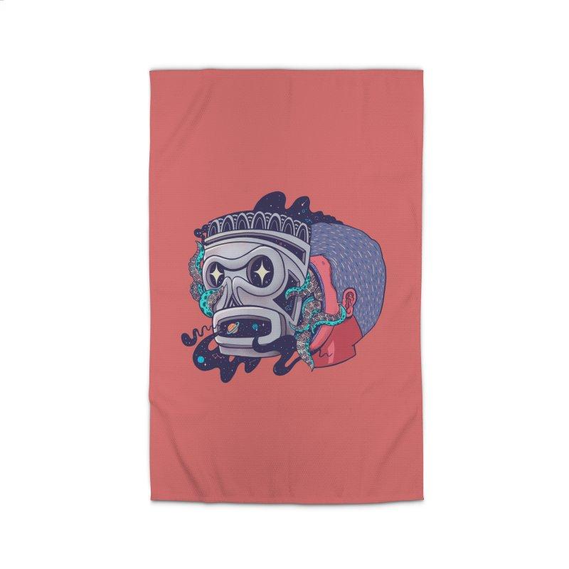 Cosmic taino mask Home Rug by MadKobra