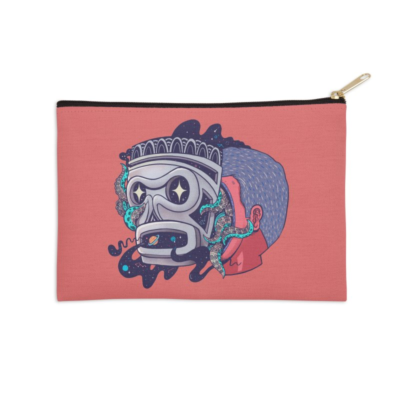 Cosmic taino mask Accessories Zip Pouch by MadKobra