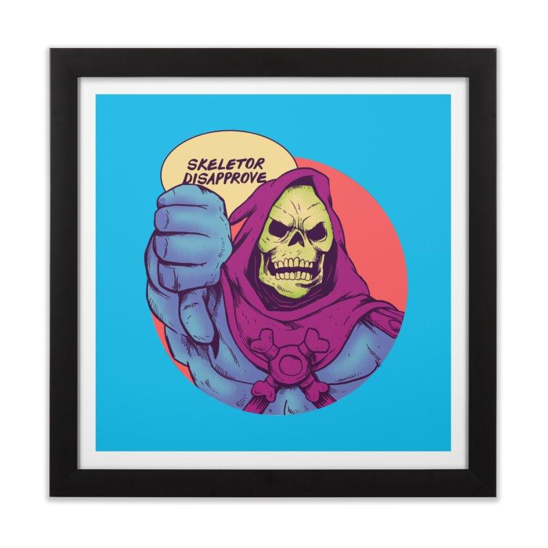 Master of hate Home Framed Fine Art Print by MadKobra