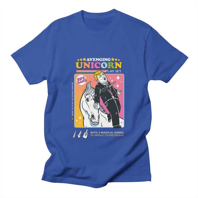 avenging unicorn play set Men's T-Shirt by MadKobra