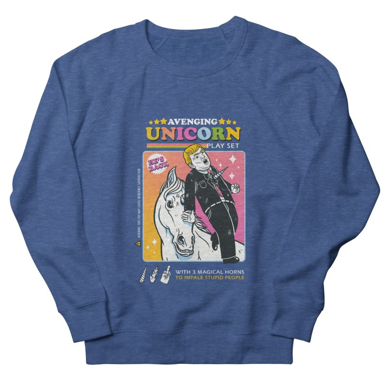 avenging unicorn play set Men's French Terry Sweatshirt by MadKobra