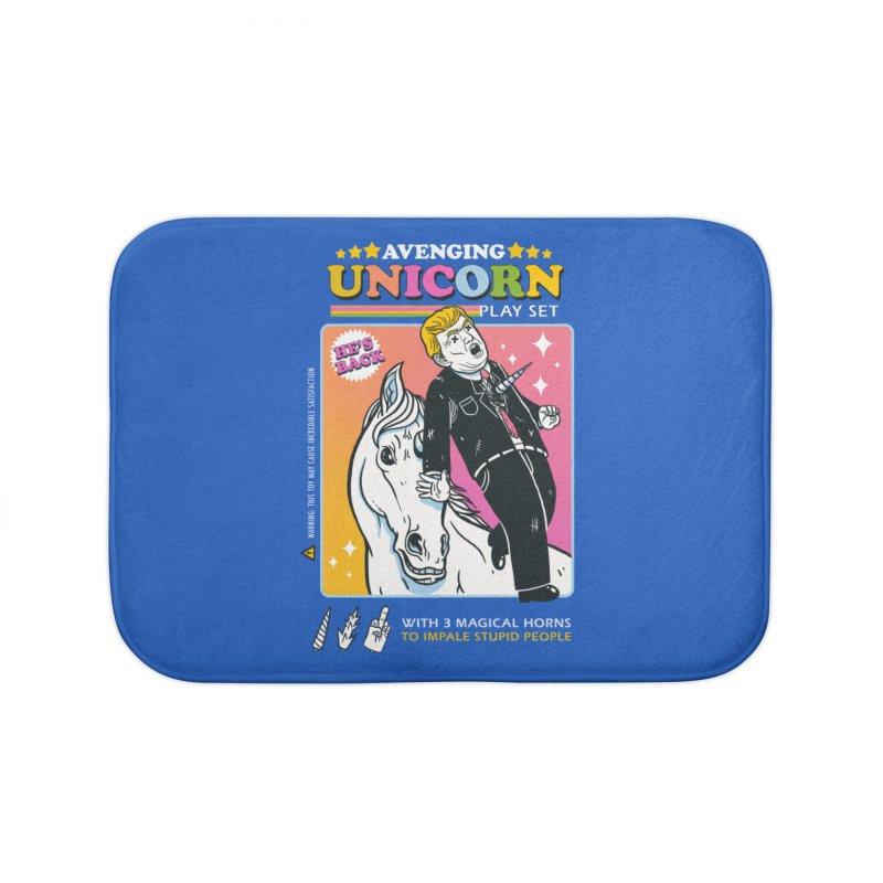 avenging unicorn play set Home Bath Mat by MadKobra