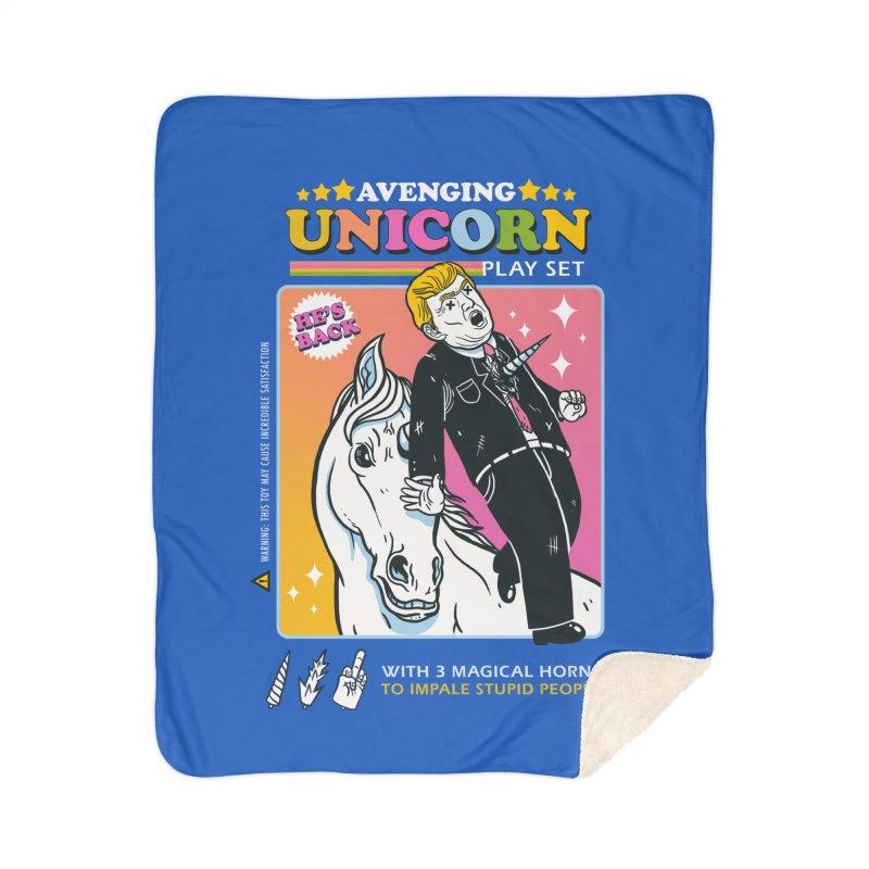 avenging unicorn play set Home Sherpa Blanket Blanket by MadKobra