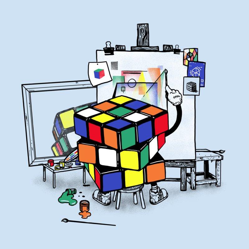 rubik's cubism Men's T-Shirt by MadKobra