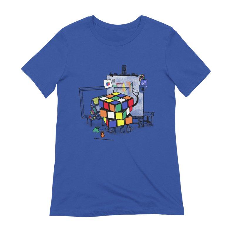 rubik's cubism Women's Extra Soft T-Shirt by MadKobra