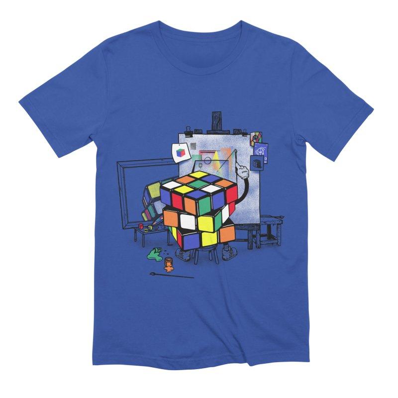 rubik's cubism Men's Extra Soft T-Shirt by MadKobra