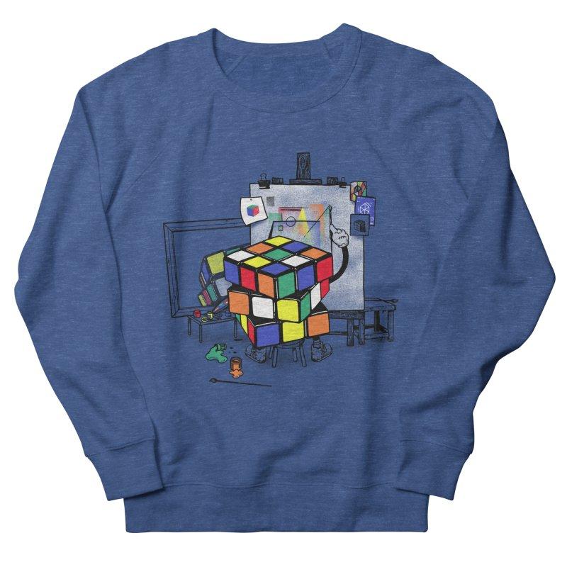 rubik's cubism Men's French Terry Sweatshirt by MadKobra