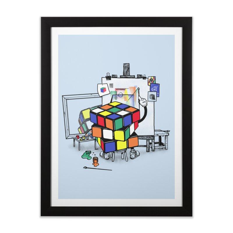 rubik's cubism Home Framed Fine Art Print by MadKobra