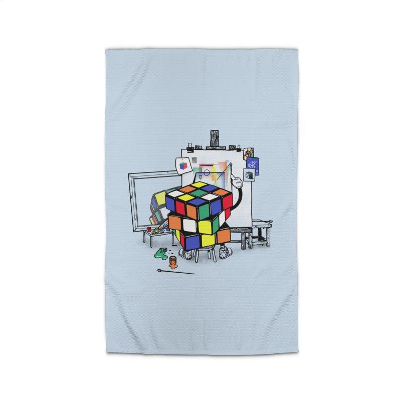 rubik's cubism Home Rug by MadKobra