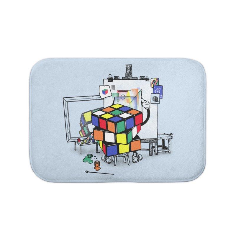 rubik's cubism Home Bath Mat by MadKobra