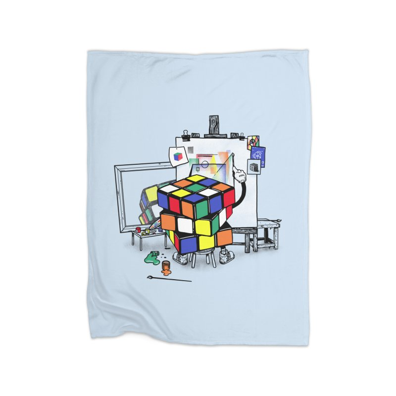 rubik's cubism Home Fleece Blanket Blanket by MadKobra