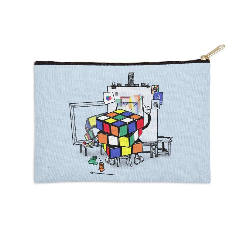 rubik's cubism Accessories Zip Pouch by MadKobra