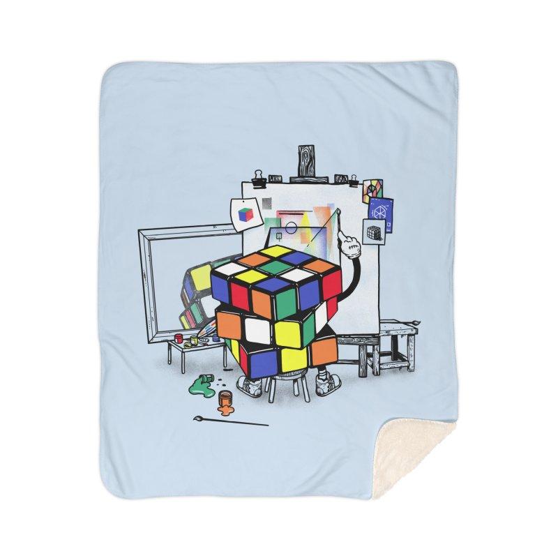 rubik's cubism Home Sherpa Blanket Blanket by MadKobra