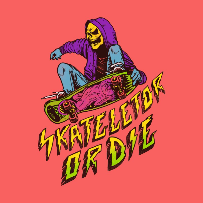 Skateletor or Die Home Bath Mat by MadKobra