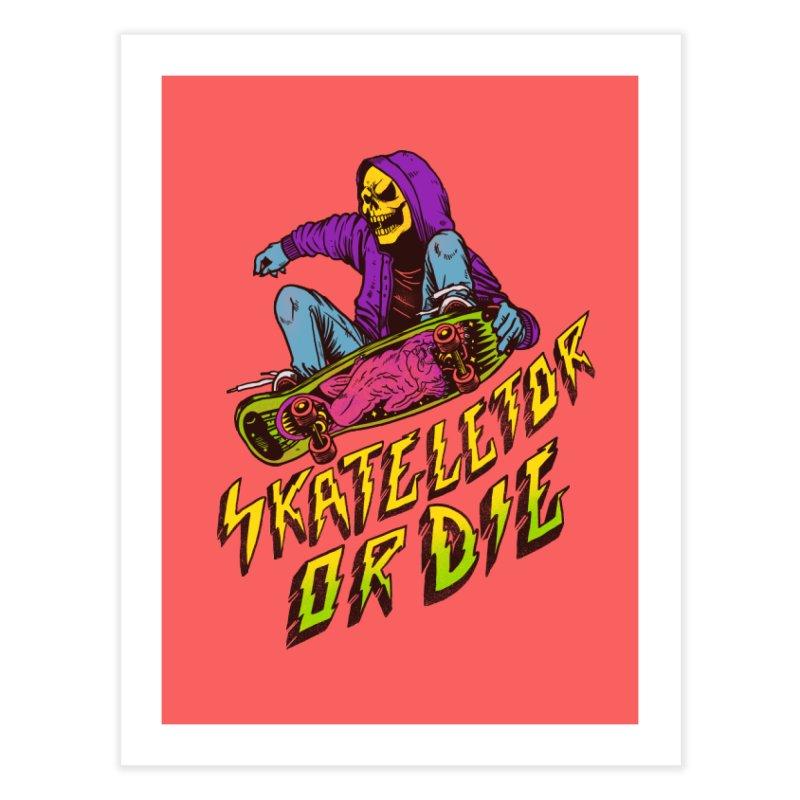 Skateletor or Die Home Fine Art Print by MadKobra