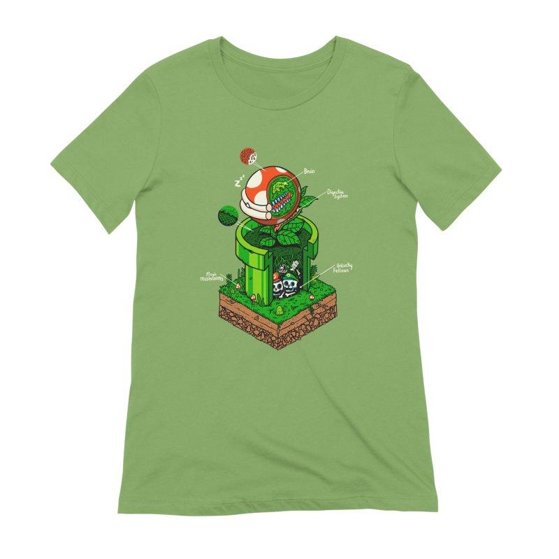 -1up Women's Extra Soft T-Shirt by MadKobra