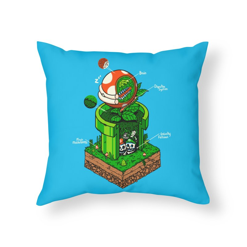 -1up Home Throw Pillow by MadKobra