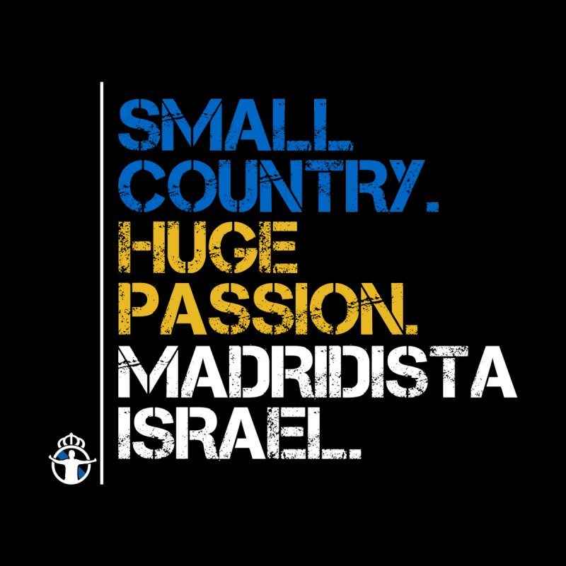 Small Country, Huge Passion Women's V-Neck by Madridista Israel