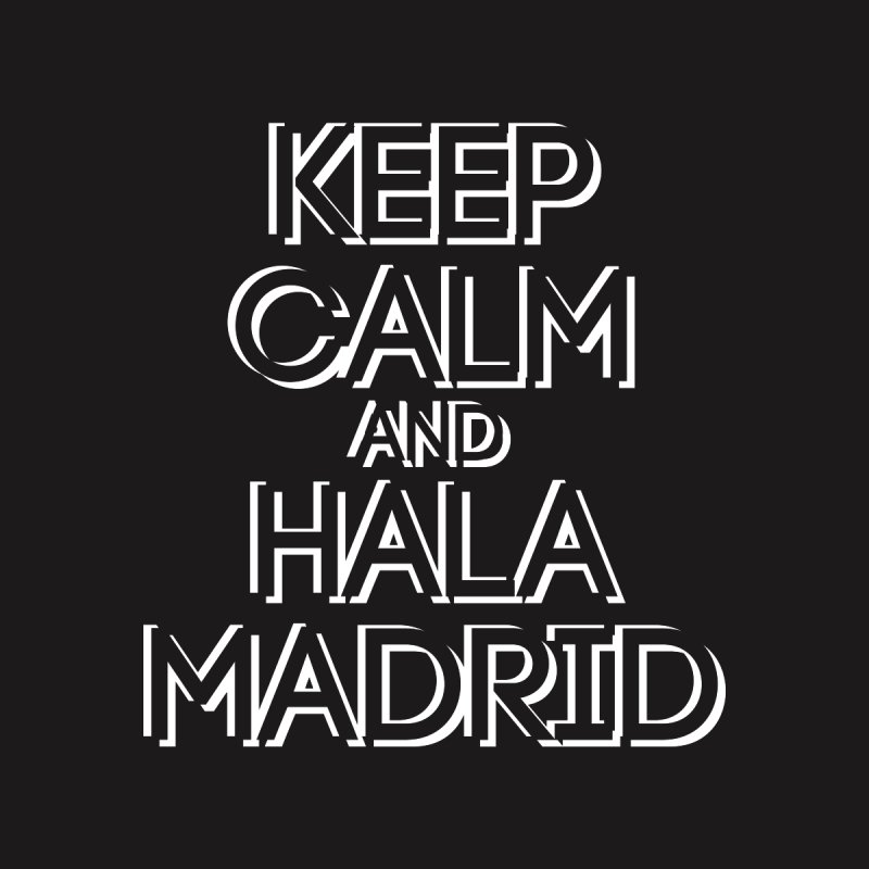 KEEP CALM AND HALA MADRID Women's Pullover Hoody by Madridista Israel