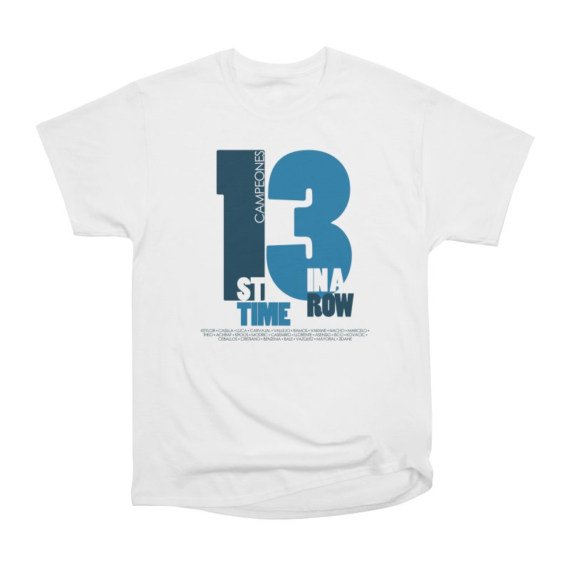1ST TIME 3 IN A ROW Men's T-Shirt by Madridista Israel