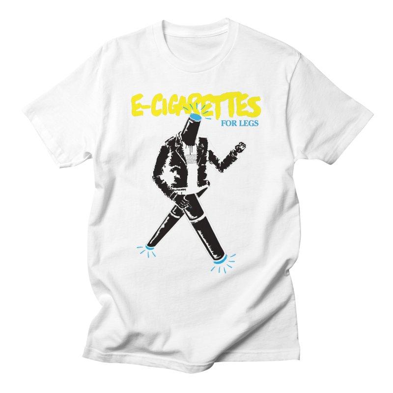ECIGS-4-LEGS WHITE Men's T-Shirt by madworldindustries's Artist Shop