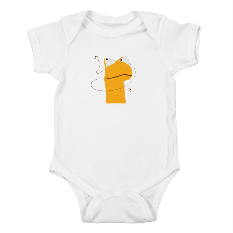 Felix the Frog (on light colors) Kids Baby Bodysuit by mafemaria