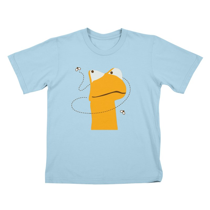 Felix the Frog (on light colors) Kids T-shirt by mafemaria