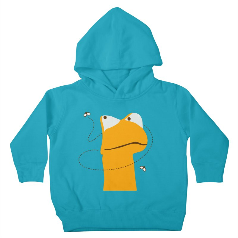 Felix the Frog (on light colors) Kids Toddler Pullover Hoody by mafemaria