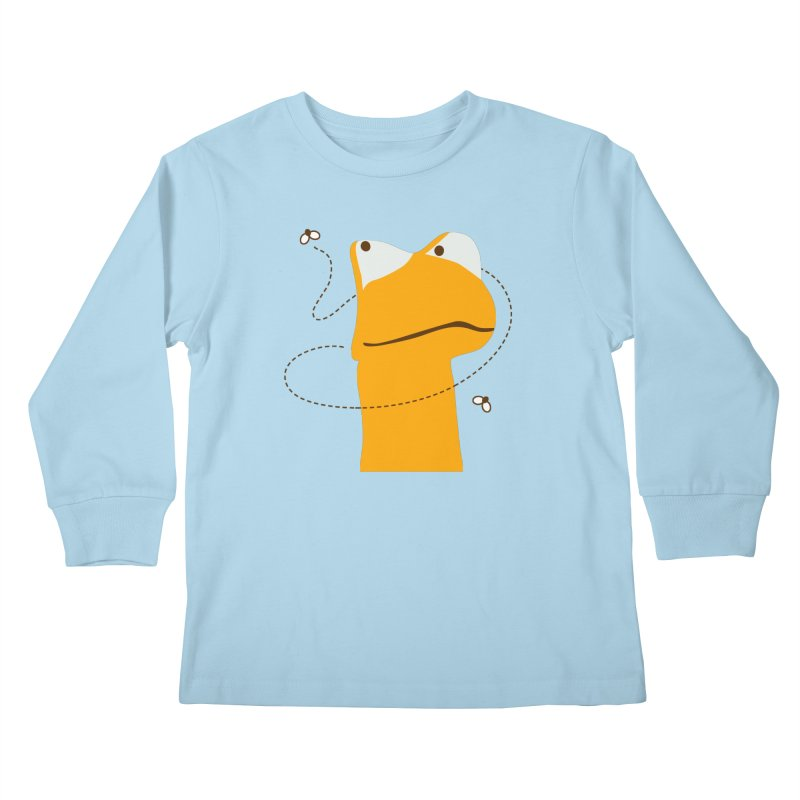 Felix the Frog (on light colors) Kids Longsleeve T-Shirt by mafemaria