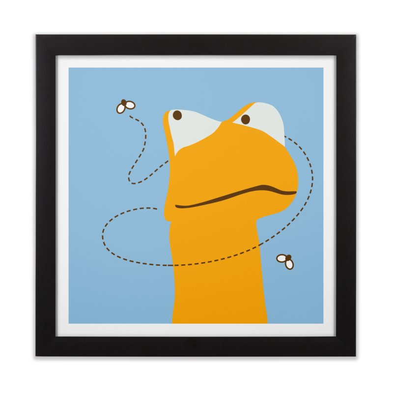 Felix the Frog (on light colors) Home Framed Fine Art Print by mafemaria