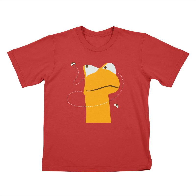 Felix the Frog (on dark colors) Kids T-shirt by mafemaria