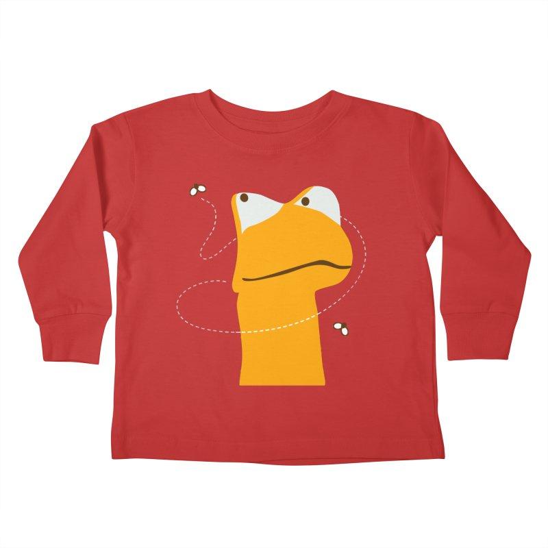 Felix the Frog (on dark colors) Kids Toddler Longsleeve T-Shirt by mafemaria