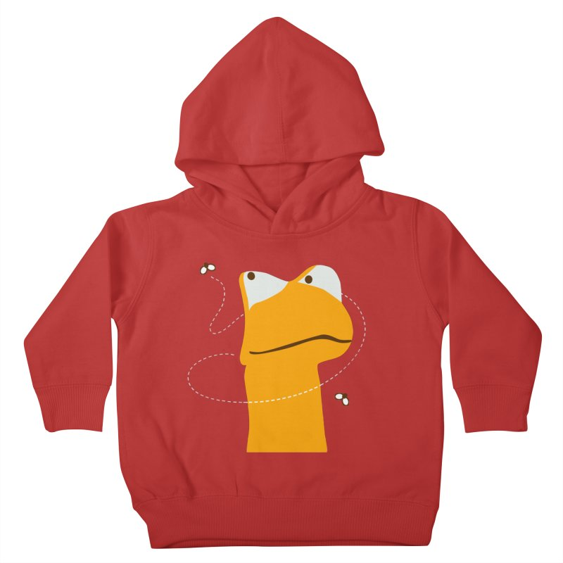 Felix the Frog (on dark colors) Kids Toddler Pullover Hoody by mafemaria