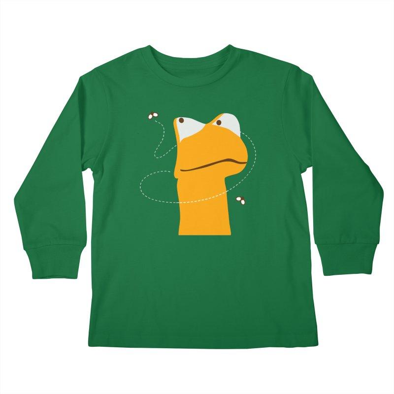 Felix the Frog (on dark colors) Kids Longsleeve T-Shirt by mafemaria
