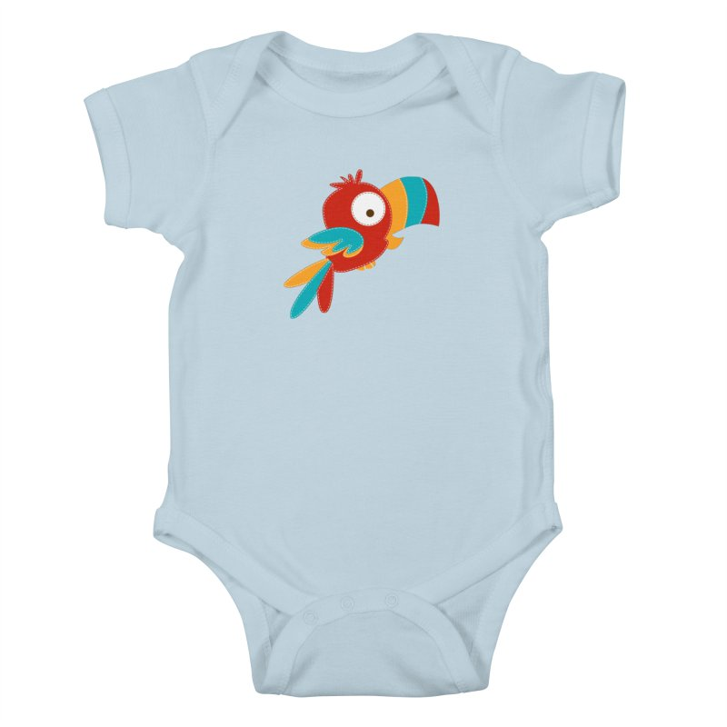 Paco the Tropical Bird Kids Baby Bodysuit by mafemaria