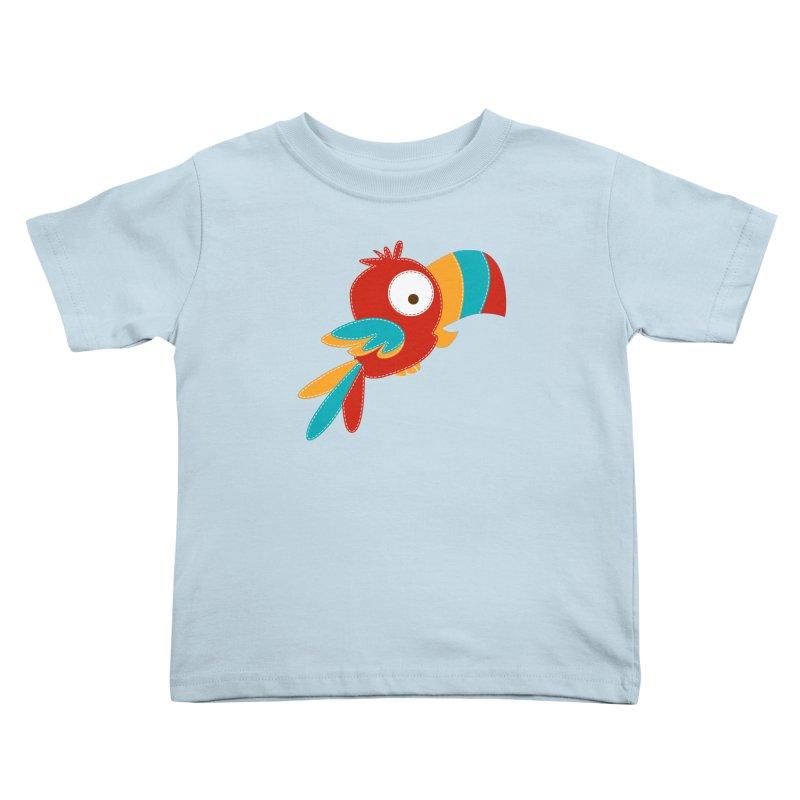 Paco the Tropical Bird Kids Toddler T-Shirt by mafemaria