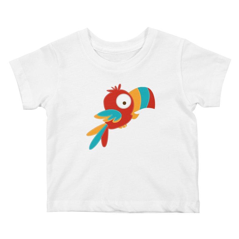 Paco the Tropical Bird Kids Baby T-Shirt by mafemaria