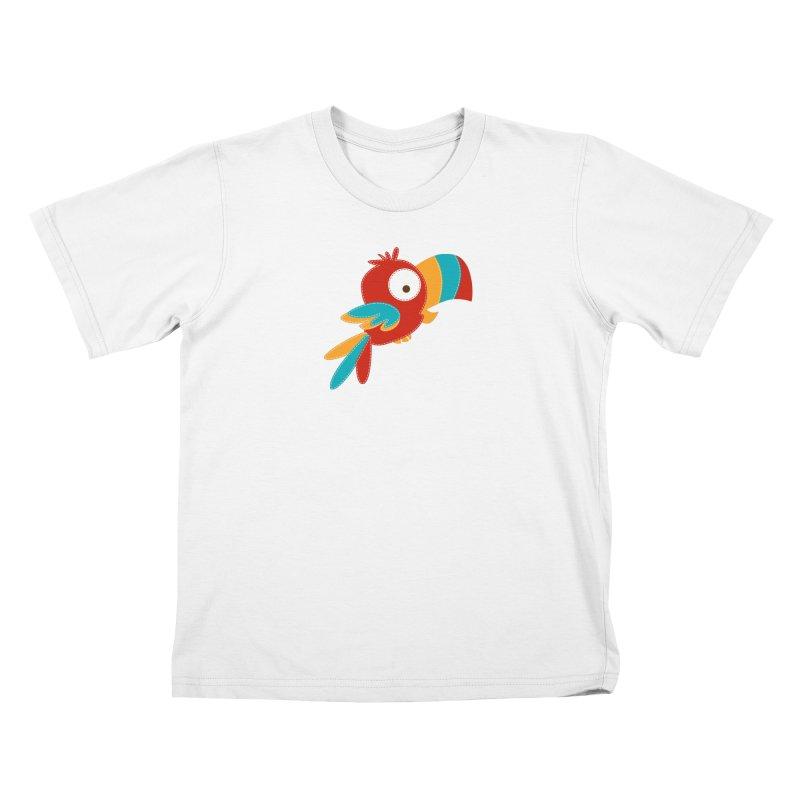 Paco the Tropical Bird Kids T-shirt by mafemaria